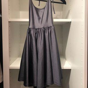 American Apparel grey halter neck skater dress
